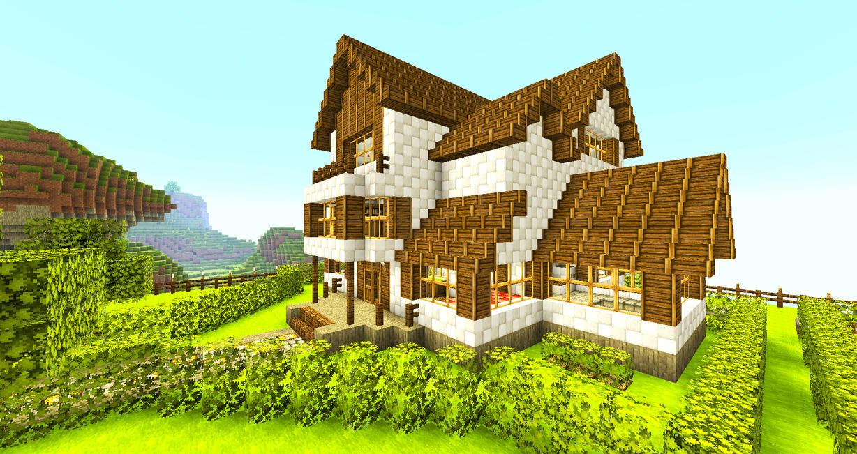 Как можно сделать красивый дом в майнкрафте видео