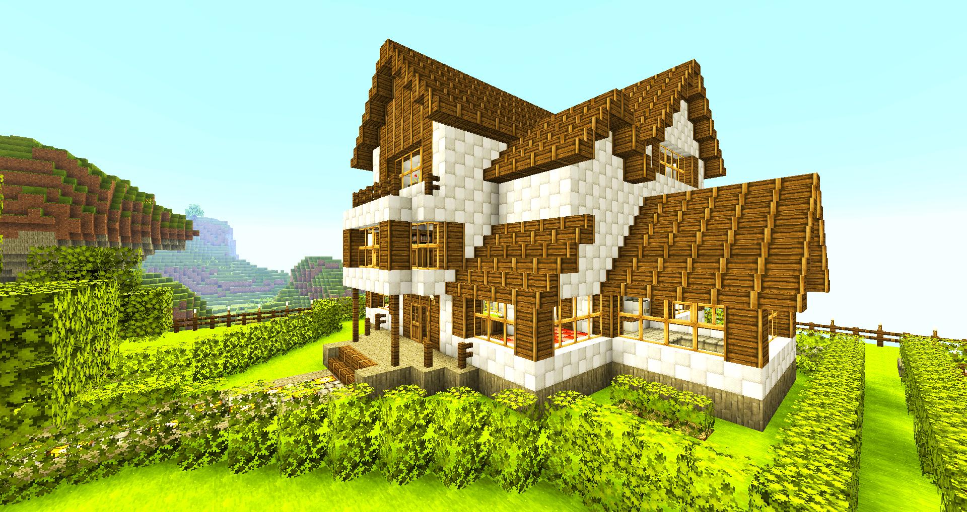 как сделать красивый дом в майнкрафте картинки