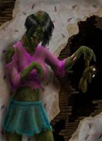 Dead girl by warsram