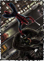 Venom vs Spidey by warsram