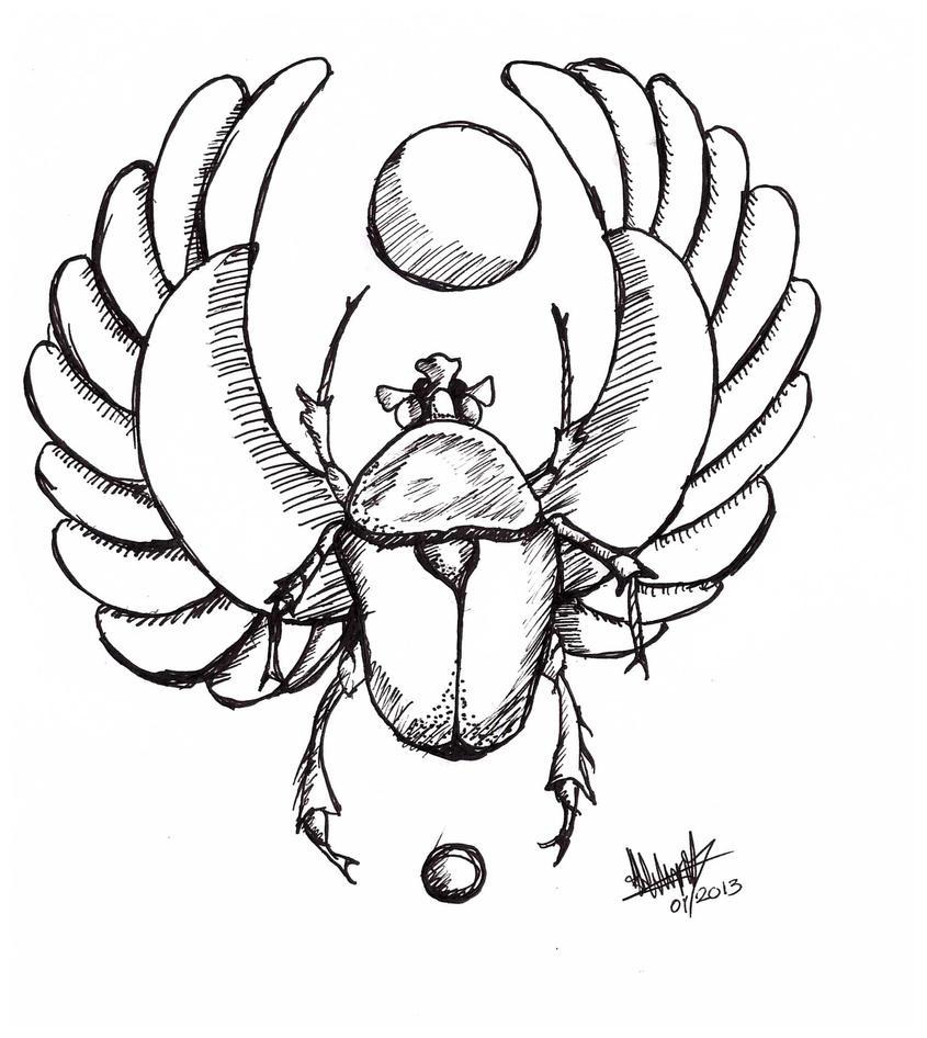 Dibujos Para Colorear Escarabajo Egipcio ~ Ideas Creativas Sobre ...