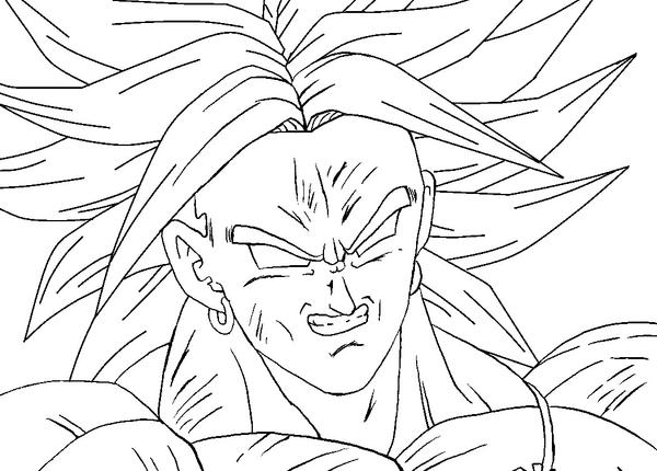 Broly Lineart By RuokDbz98 On DeviantArt