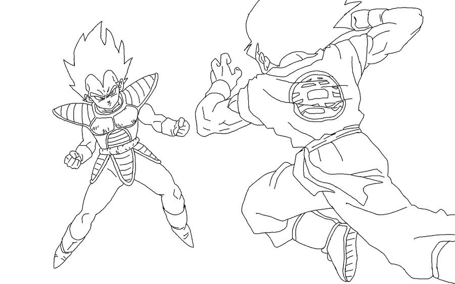 Vegeta Vs Goku Lineart By RuokDbz98 On DeviantArt