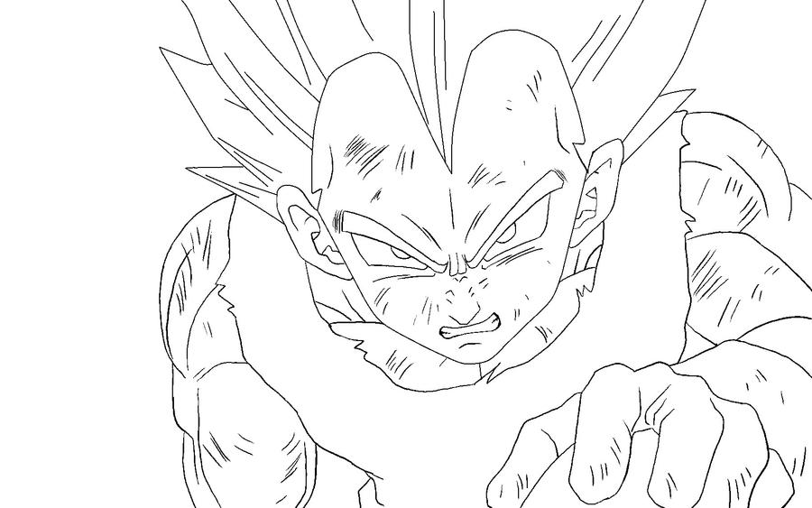 Vegeta II Lineart By RuokDbz98 On DeviantArt