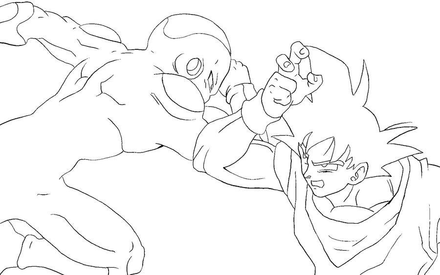 Frieza VS Goku Lineart By RuokDbz98 On DeviantArt