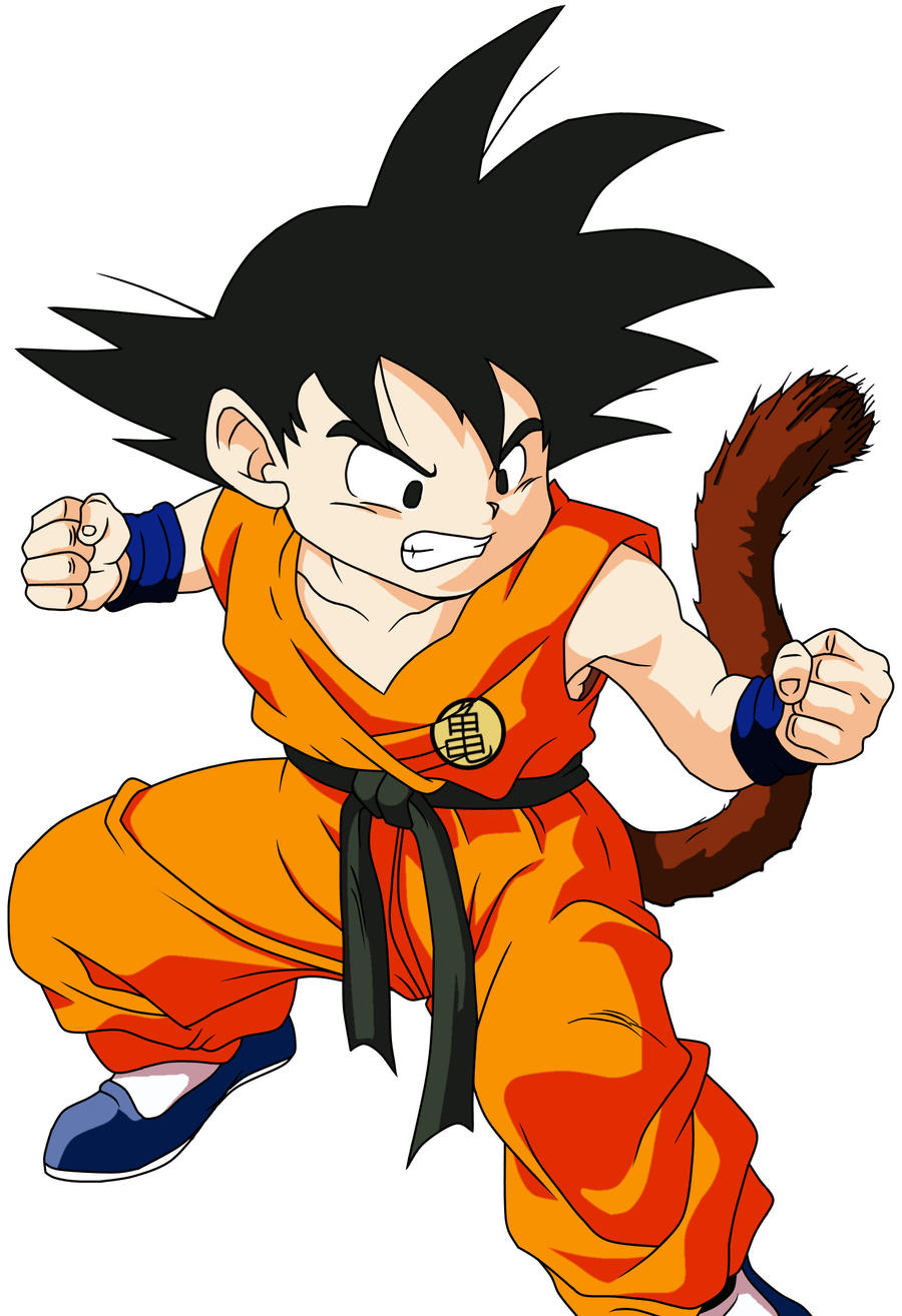 young goku color by ruokdbz98 on deviantart