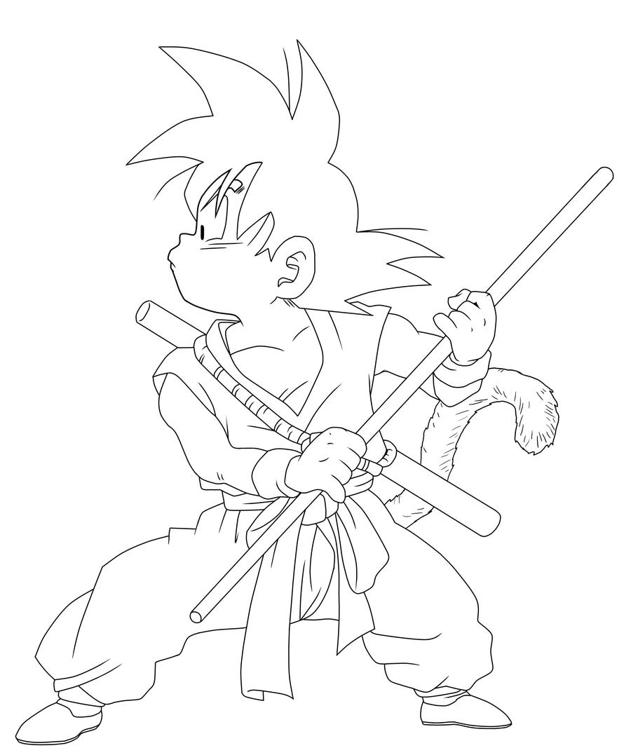Dragon Ball Z Lineart : Dragonball goku lineart by ruokdbz on deviantart