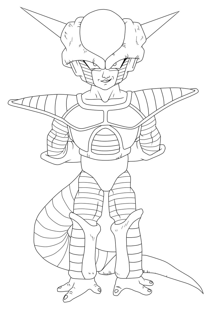 dbz coloring pages frieza - photo#3