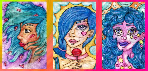 Watercolor Dabbles by LaMissMoxie