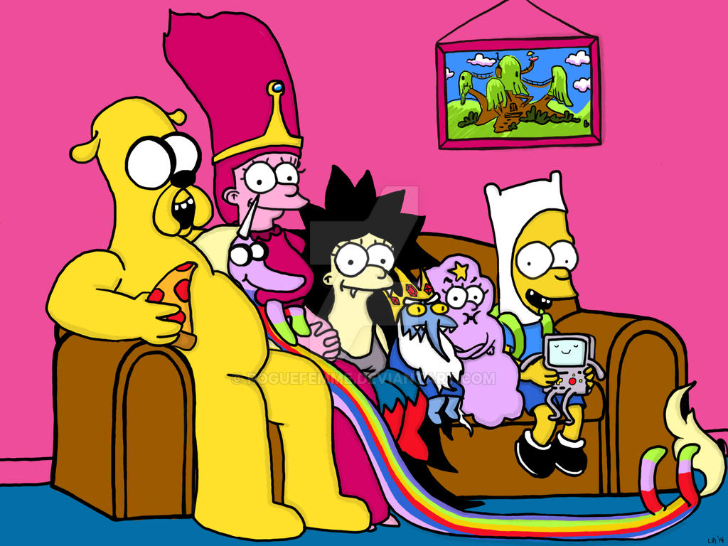 Simpsons Adventure Time Fanart Mashup by roguefemme on ...