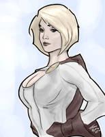 Power Girl by SteveSykesArt
