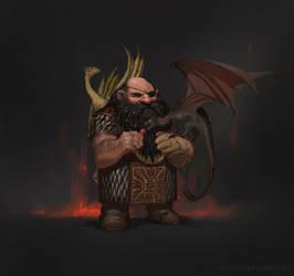 Dwarf drake-keeper