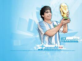 Diego Armando Maradona Wall by akyanyme