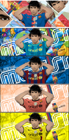 Lionel Messi Tag Wall vector