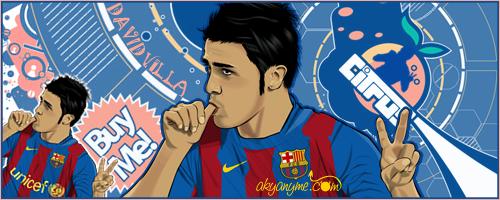 David Villa FC Barcelona by akyanyme
