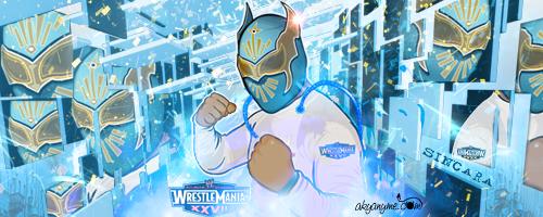 Sin Cara WWE Mistico by akyanyme