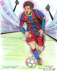Lionel Messi  colouring book by akyanyme
