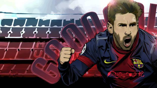 Lionel Messi vector wallpaper