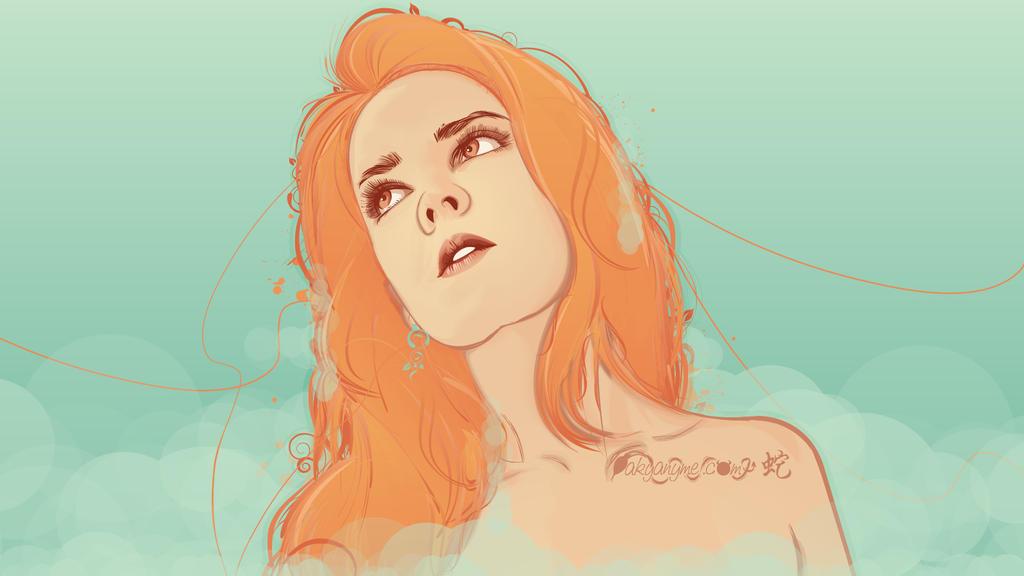 Orange Girl vector by akyanyme
