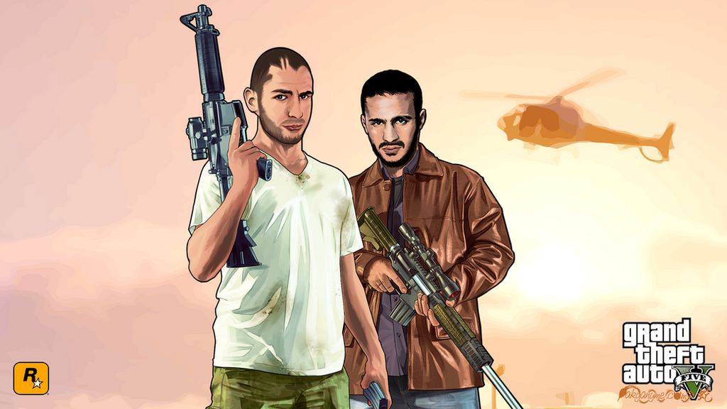 Badr Hari and Karim Benzema GTA V by akyanyme