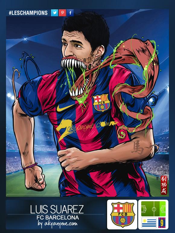 LesChampions: Luis Suarez Barcelona by akyanyme