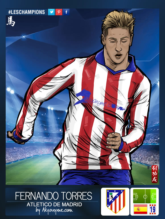 LesChampions: Fernando Torres Atletico de Madrid by akyanyme