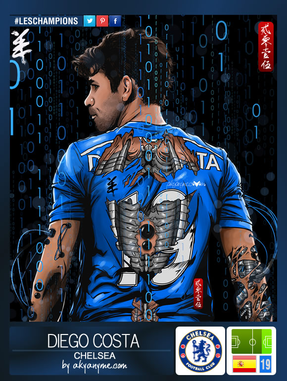 LesChampions: Diego Costa Chelsea by akyanyme