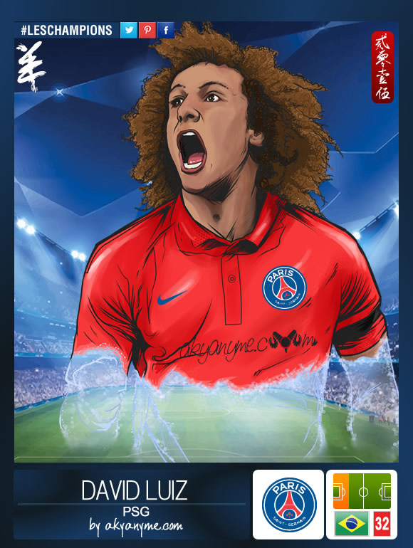 LesChampions: David Luiz PSG by akyanyme