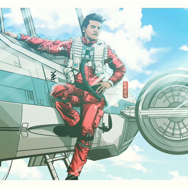 Poe Dameron  XWing Manga Anime Style by akyanyme