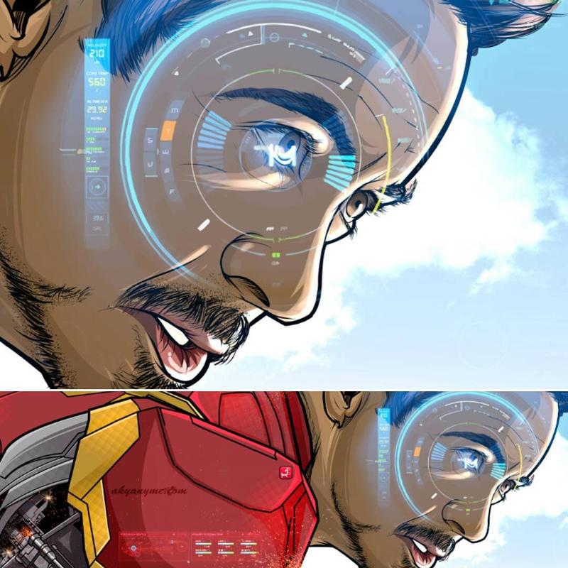 Tony Stark zoom by akyanyme