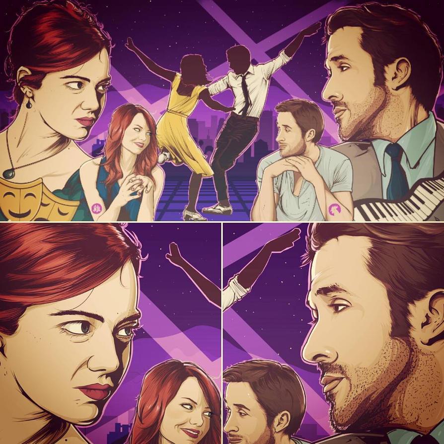 La La Land, Mia and Sebastian. by akyanyme