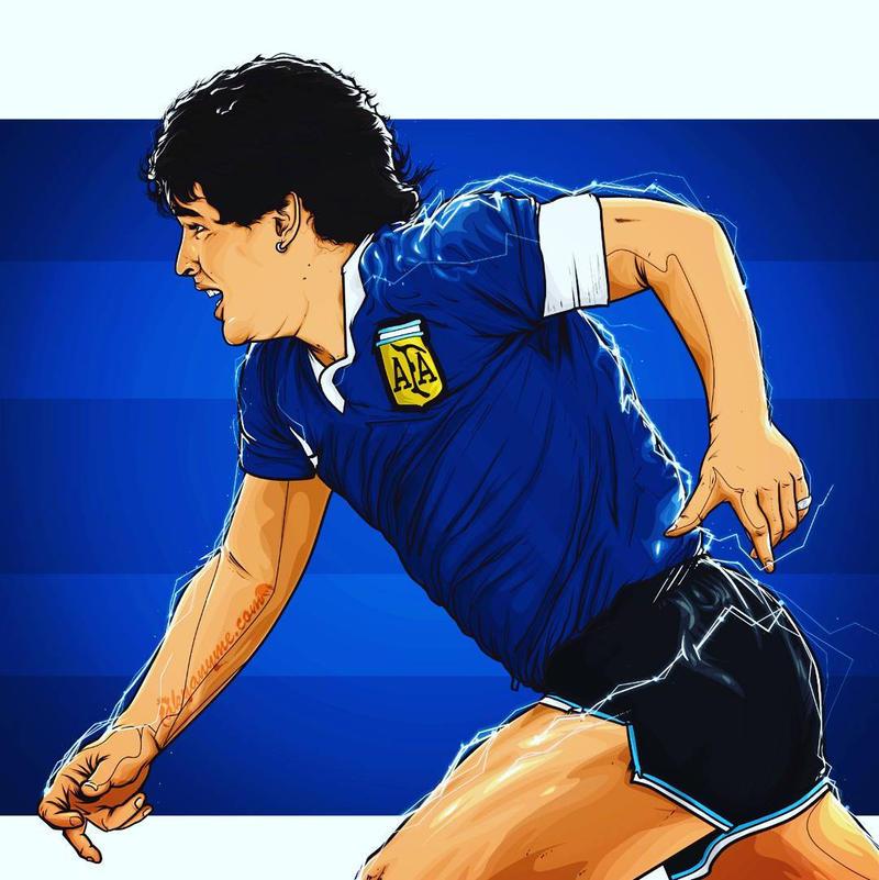 Maradona ilustracion by akyanyme