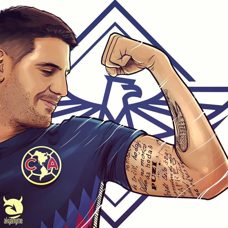 Aleksandar Mitrovic Club America Ilustracion by akyanyme