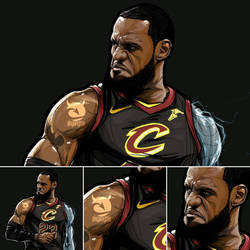 LeBron James illustration by akyanyme