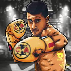Cecilio Dominguez Boxeador Club America by akyanyme