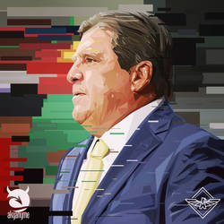 Miguel Herrera vector Club America by akyanyme