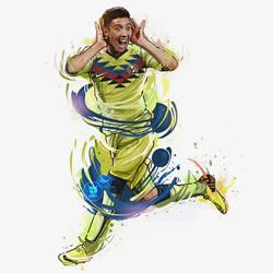 Leonardo Suarez Club America ilustracion