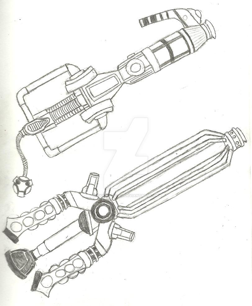 Cybermen and Dalek Keyblade by Cyber-Zacon