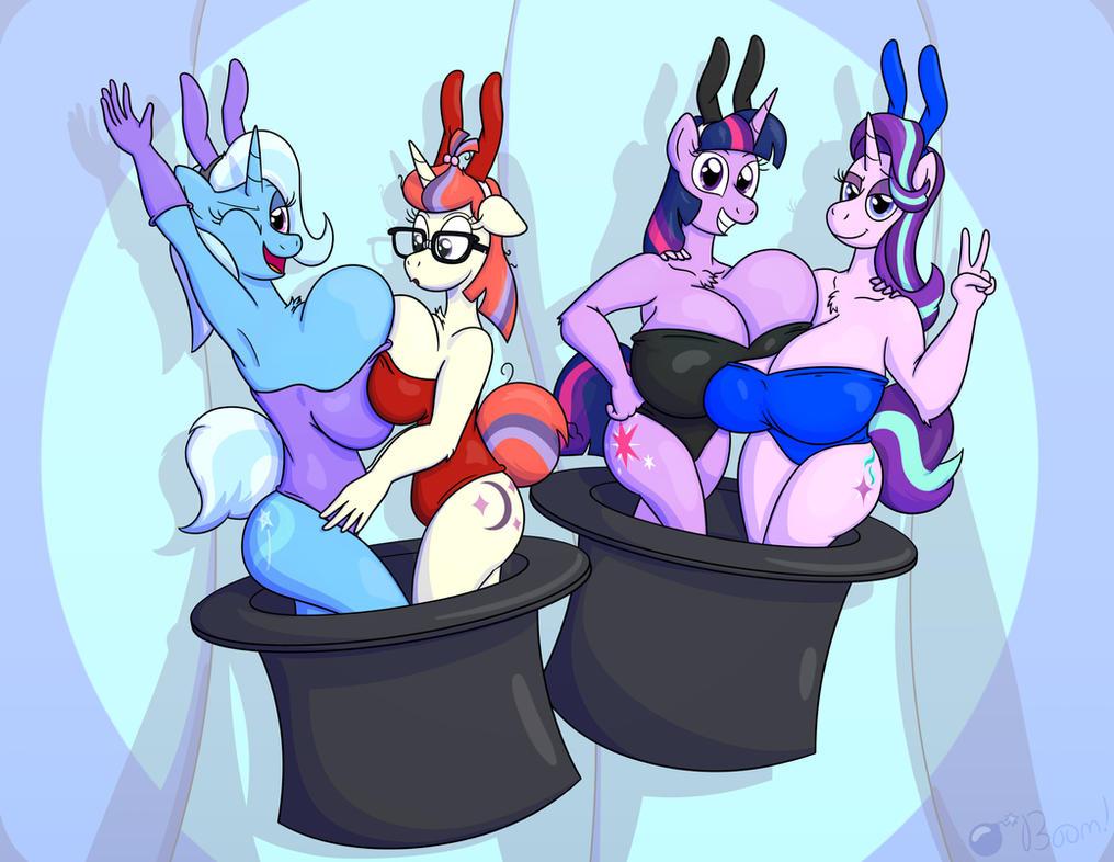 Magic Bunnies by GunpowderGreenTea