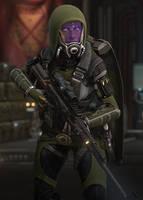 Mass Effect OC - Cira'Vaann vas Shayya by NordRonnoc