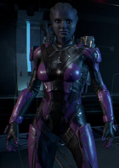 Mass Effect OC - Tev'sasy Ruza by NordRonnoc