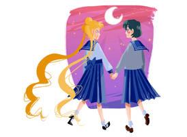 Sailor Moon - Usagi and Ami