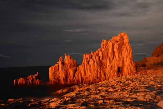 Arbatax's red rocks