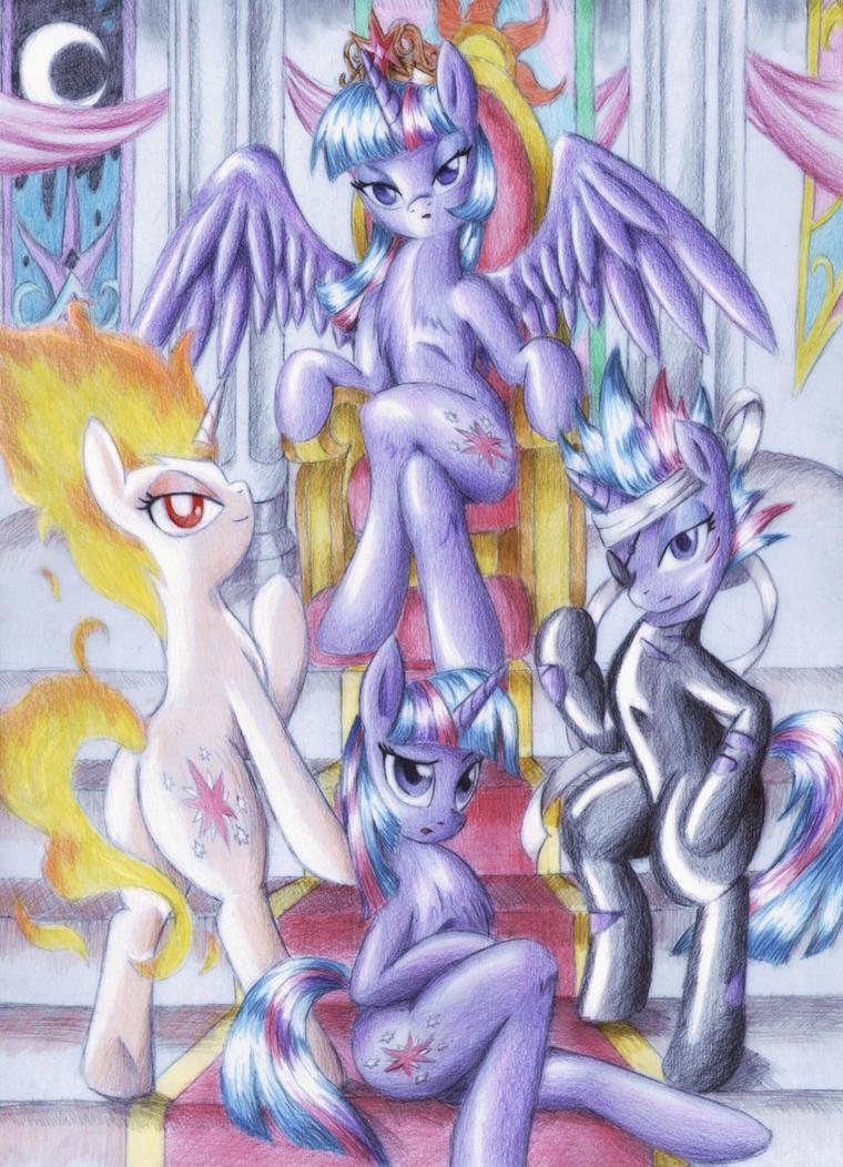 Four Faces of Twilight Sparkle by JedielDaniel