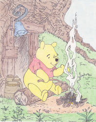 Winnie the Pooh Opening Campfire Scene (Colored) by Lizzie85