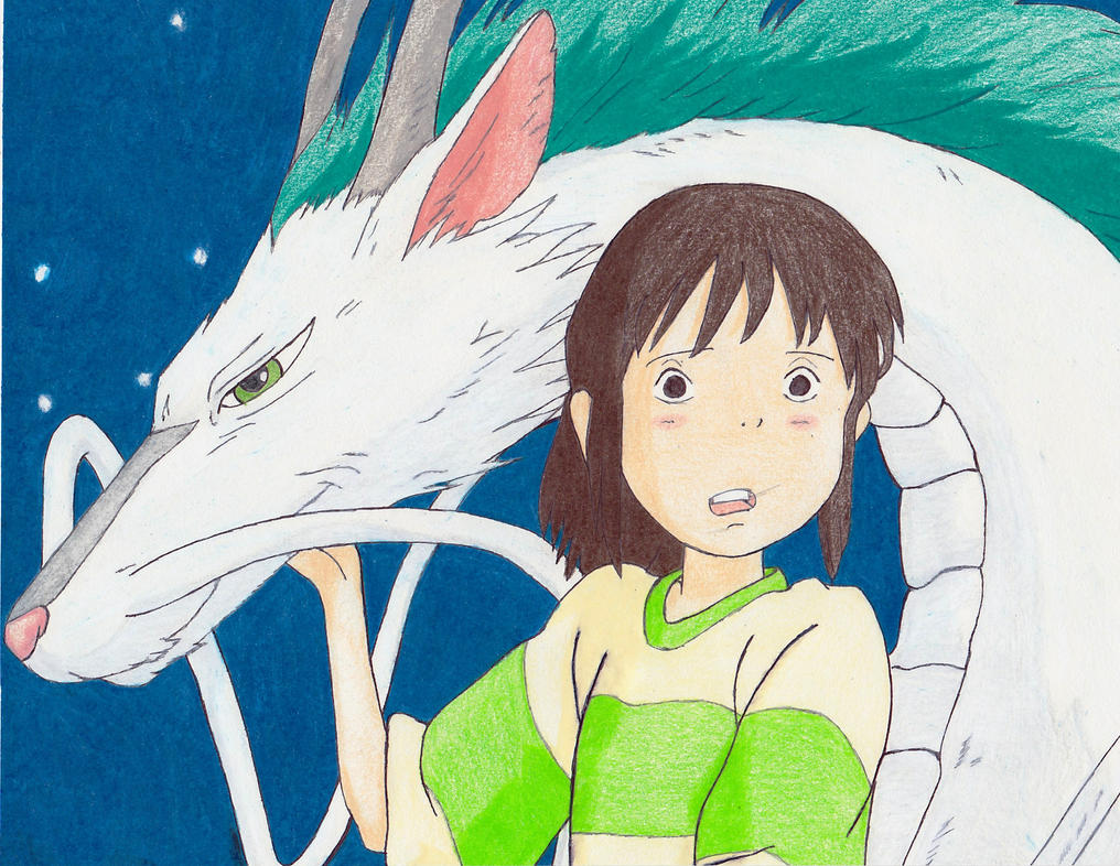 Haku and Chihiro - Spirited Away (Colored) by Lizzie85 on ...