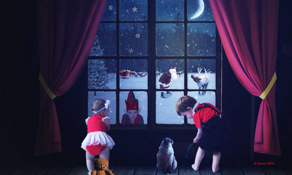 Santa In The Window