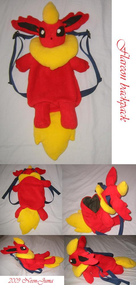 Flareon backpack by Neon-Juma