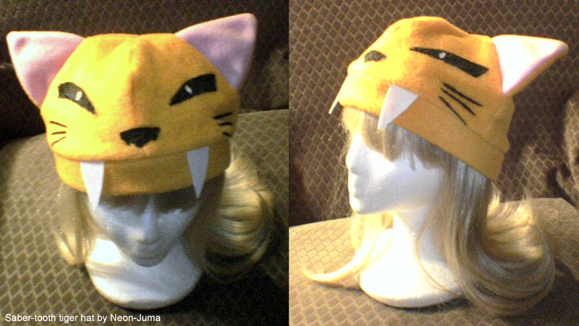 Saber-tooth tiger hat by Neon-Juma ... & Saber-tooth tiger hat by Neon-Juma on DeviantArt