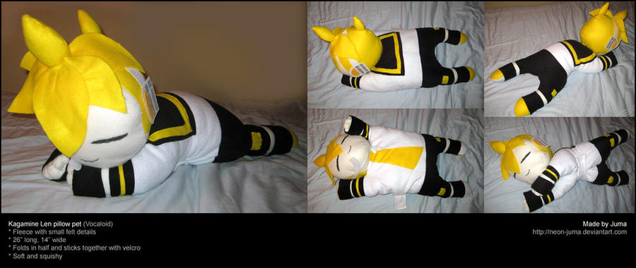 Kagamine Len Pillow Pet By Neon Juma On Deviantart
